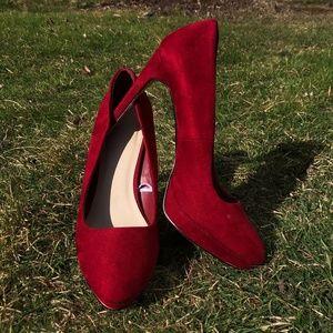Wine Suede Forever 21 heels